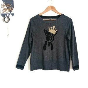 The Limited Crowned Dog French Bulldog Sweater